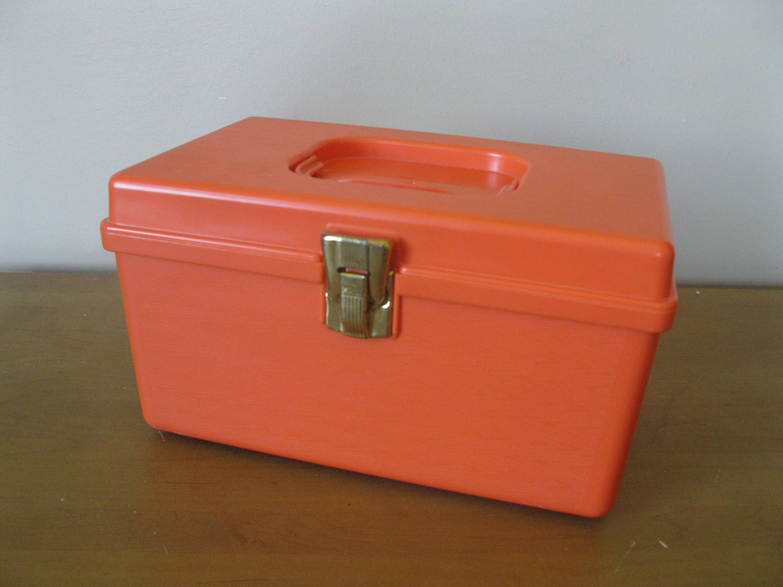 TOP QUALITY DELUXE ANTI CRACK DOUBLE SIDE PLASTIC BOBBIN BOX 50 Storage Clip lid