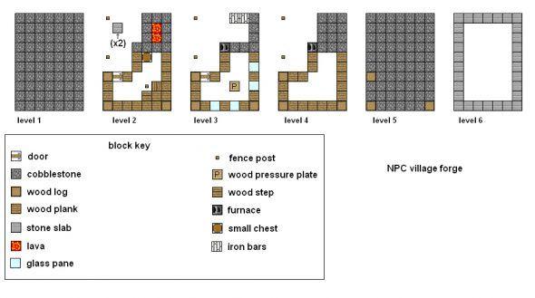 minecraft village blacksmith blueprints   minecraft   pinterest