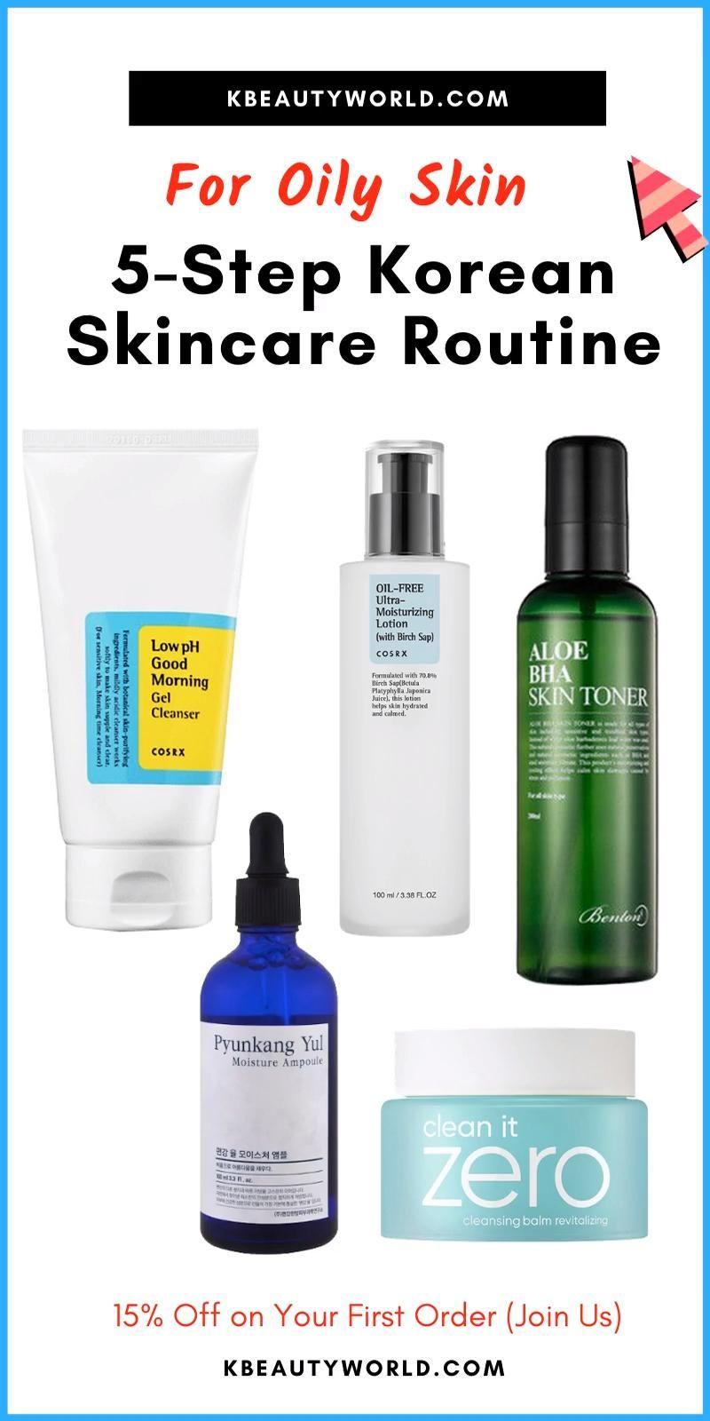 5 Step Korean Skin Care Routine For Oily Skin Video Video In 2020 Skin Care Routine Oily Skin Korean Skincare Routine
