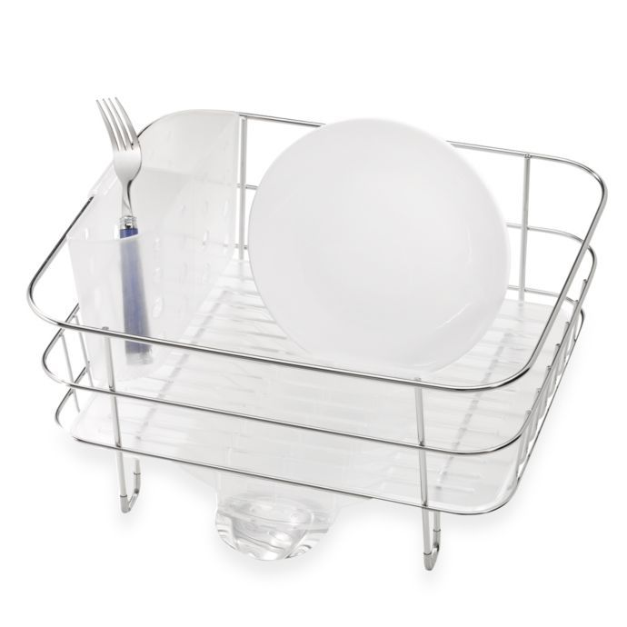 Best Simplehuman® Compact Stainless Steel Dish Rack Bed Bath 400 x 300