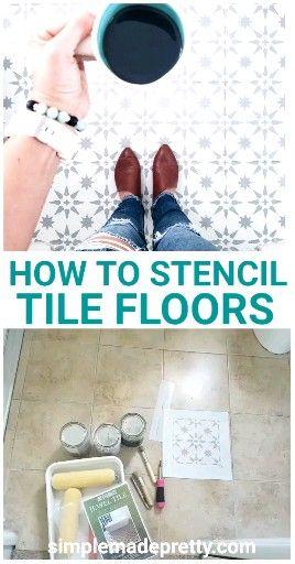 Photo of How To Stencil Tile Floors – Stencil Floors DIY, Stencil Floors Farmhouse