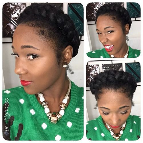 tumblr_ngjza1ZDuT1sjnrtqo1_500.jpg (500×500) | Halo braid, Curly girl hairstyles, Natural hair ...