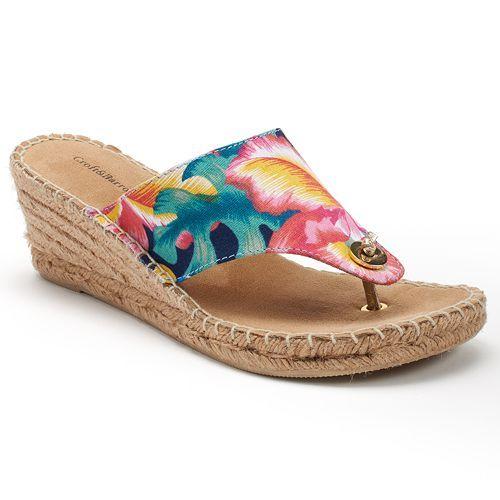 8ef33bfba43 Croft   Barrow® Women s Espadrille Wedge Sandals in 2018