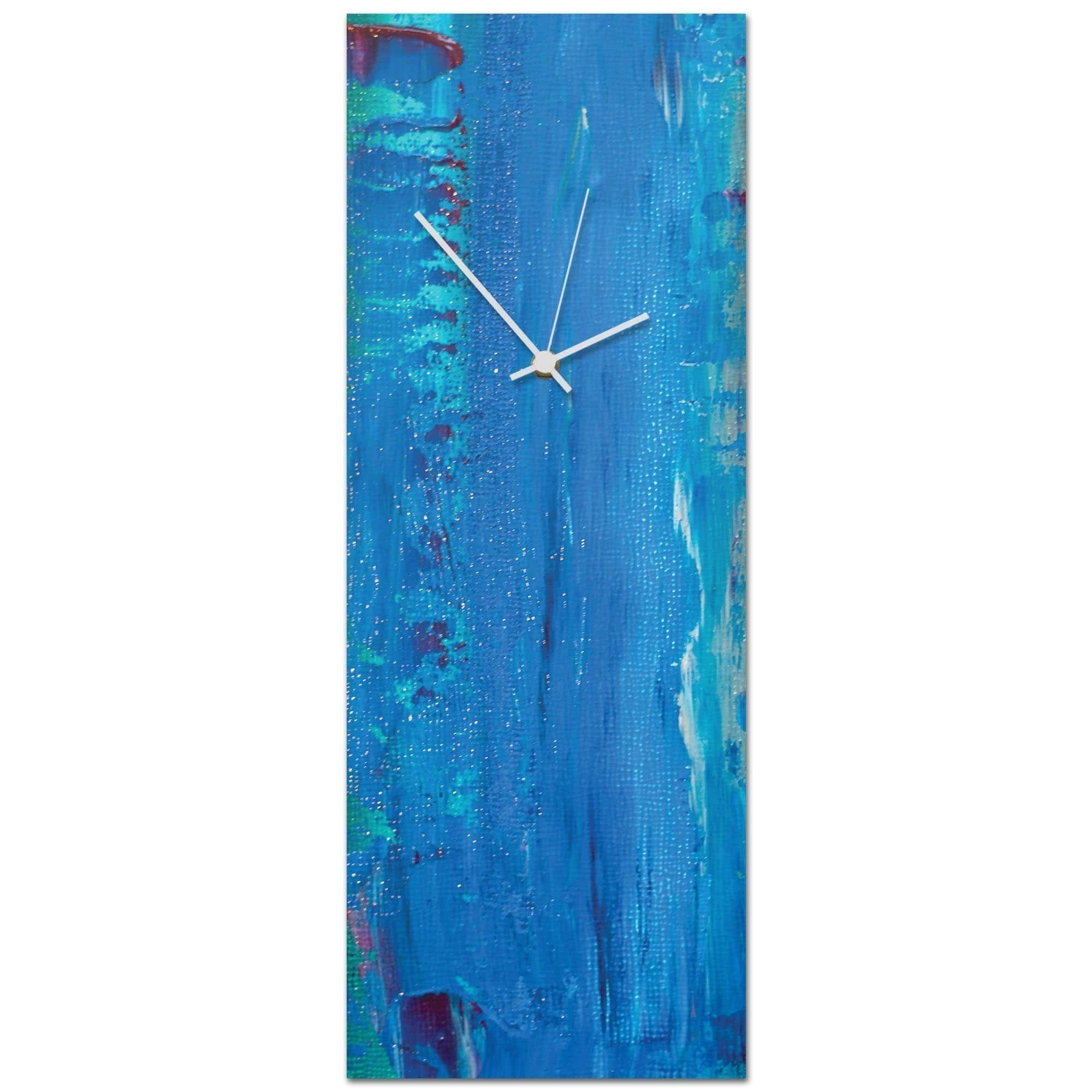 Celeste reiter uurban blue clock largeu in x in modern wall clock