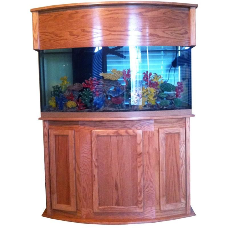 Bow front aquarium stand 72 gallon poseidon bow front for Bow front fish tank
