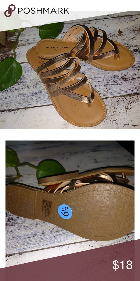 7e2064ac311 Rock & Candy by ZiGi Rose Gold Sandals Gorgeous staple sandals from ...