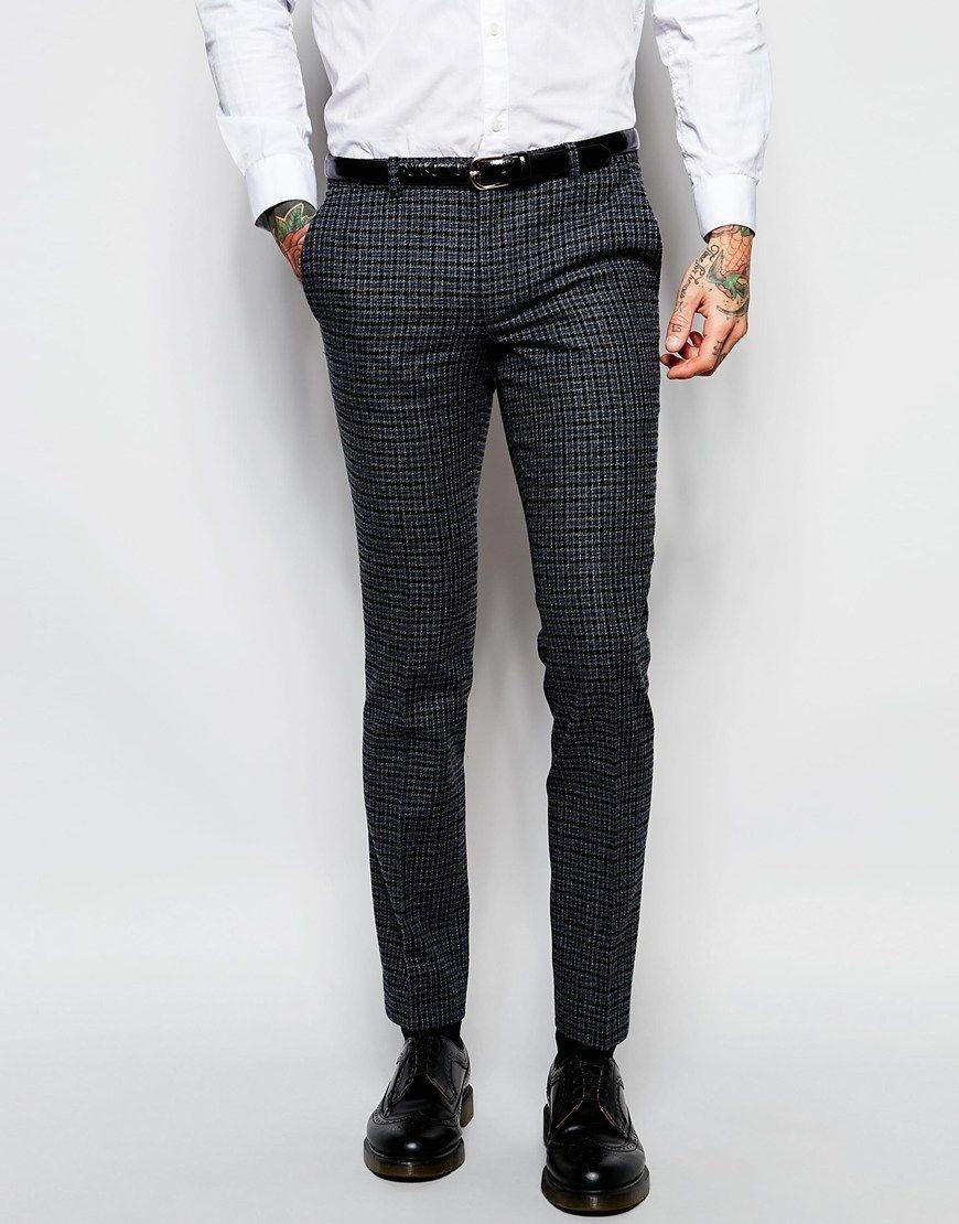Dark Grey Houndstooth Pant For Him 2018 Grey Dress Pants Men Skinny Fit Dress Pants Skinny Dress Pants Men [ 1110 x 870 Pixel ]