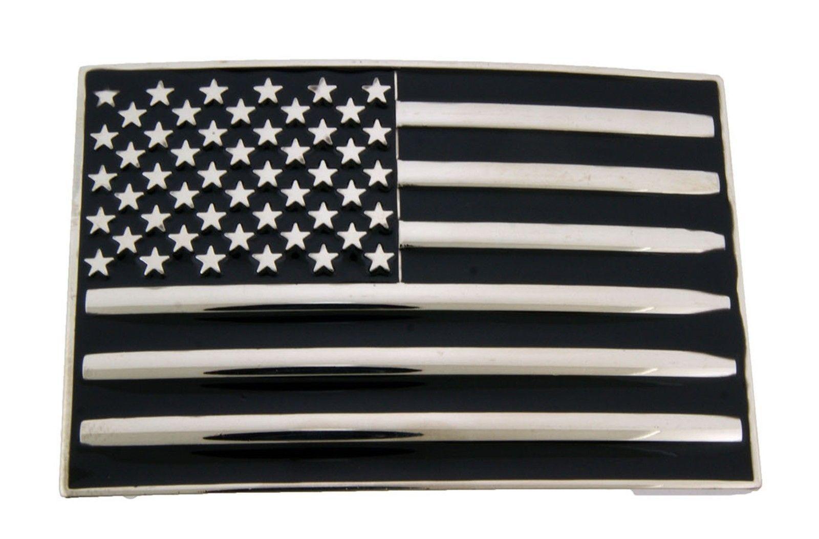 """/""""Make America Great Again/"""" American Flag Belt Buckle"""