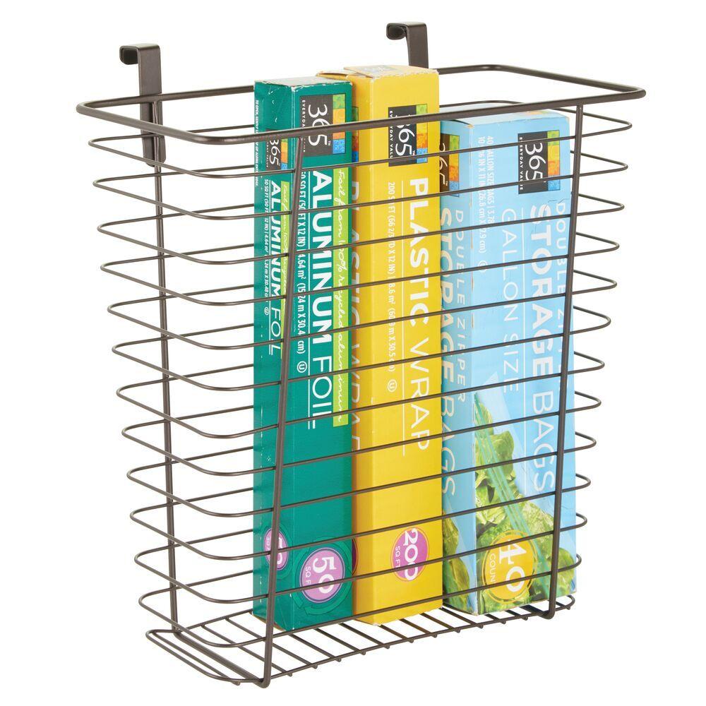 Metal Wire Over Cabinet Door Kitchen Storage Basket Storage