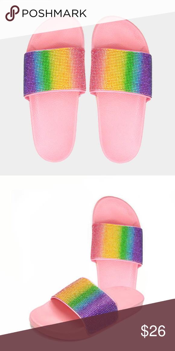 NIKE BENASSI JDI BETRUE RAINBOW LGBT PRIDE SLIDE SANDALS CD2717 001