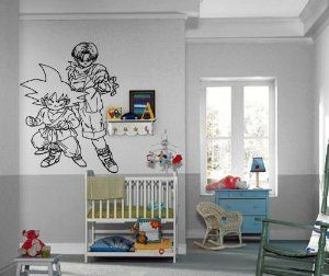 Dragon Ball Z Bedroom Ideas | Tools Home Improvement Painting Supplies Wall Treatments Wall Stickers ... | Anime Decor, Wall Decor, Kids Room Design