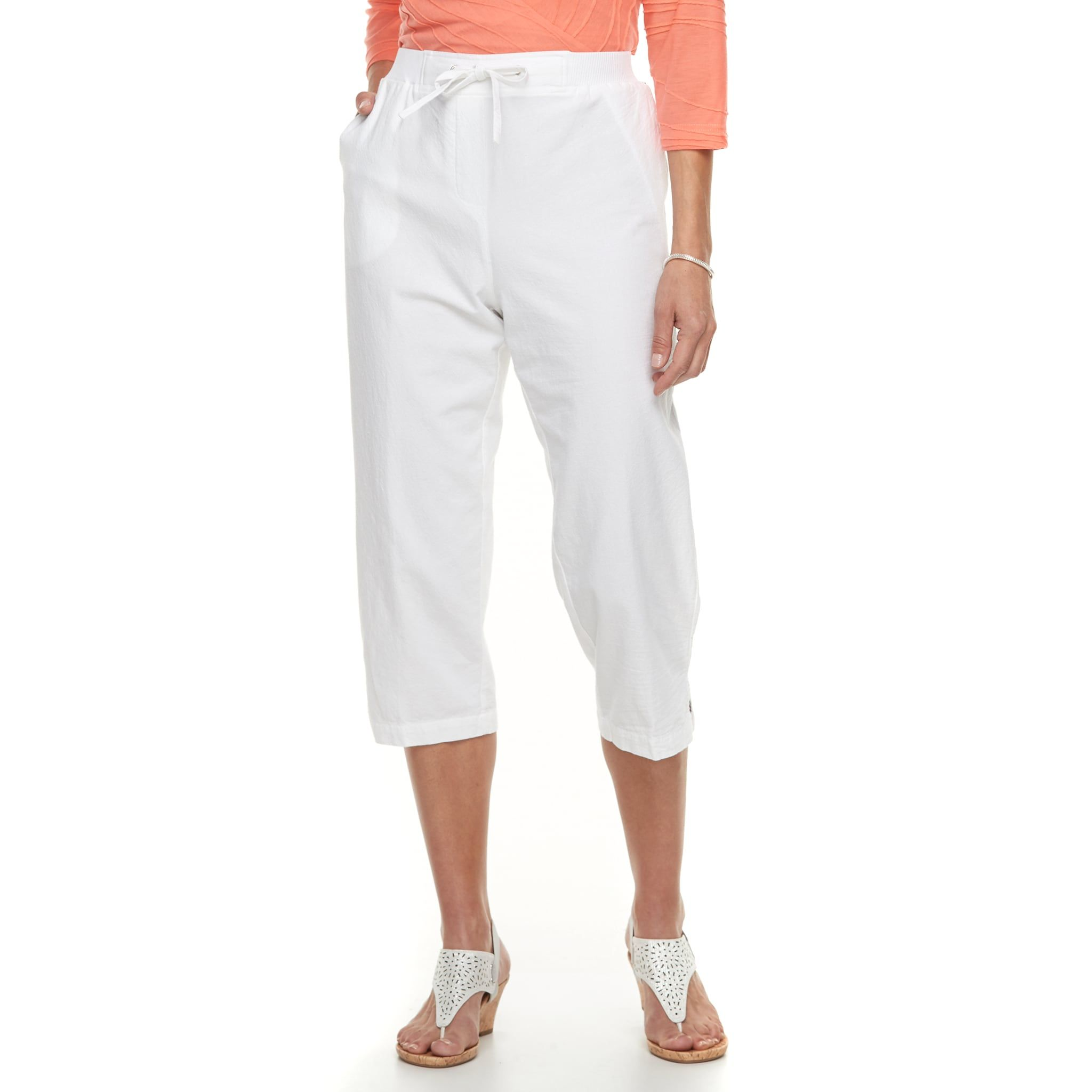 1c651281c177 Women's Cathy Daniels Sheeting Drawstring Capris | Fashion Street ...