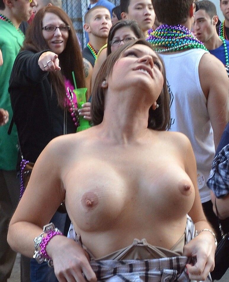 Mardi gras party girls naked question Quite