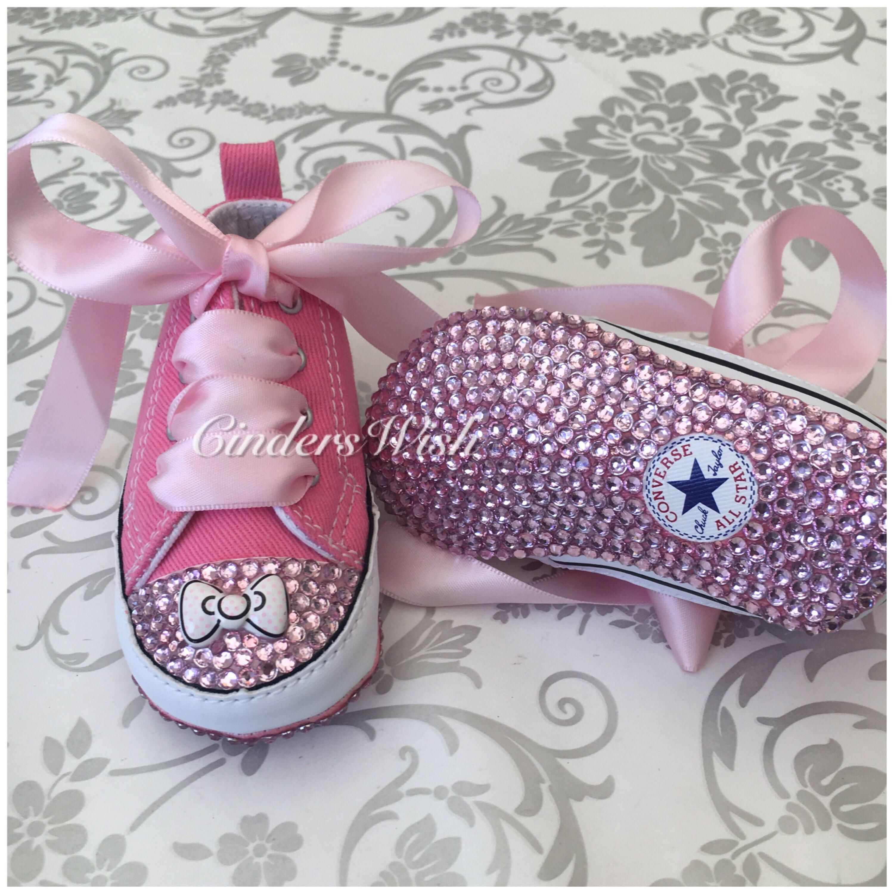 1c0b48abe500 Christening Shoes · Baby Converse · Baby Bows · My Etsy Shop · Baby Chucks  · A personal favourite from my Etsy shop https   www.etsy.com