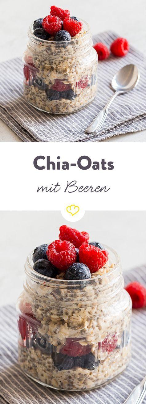 chia oats mit blaubeeren und himbeeren rezept yum fr hst ck fr hst ck rezepte und. Black Bedroom Furniture Sets. Home Design Ideas