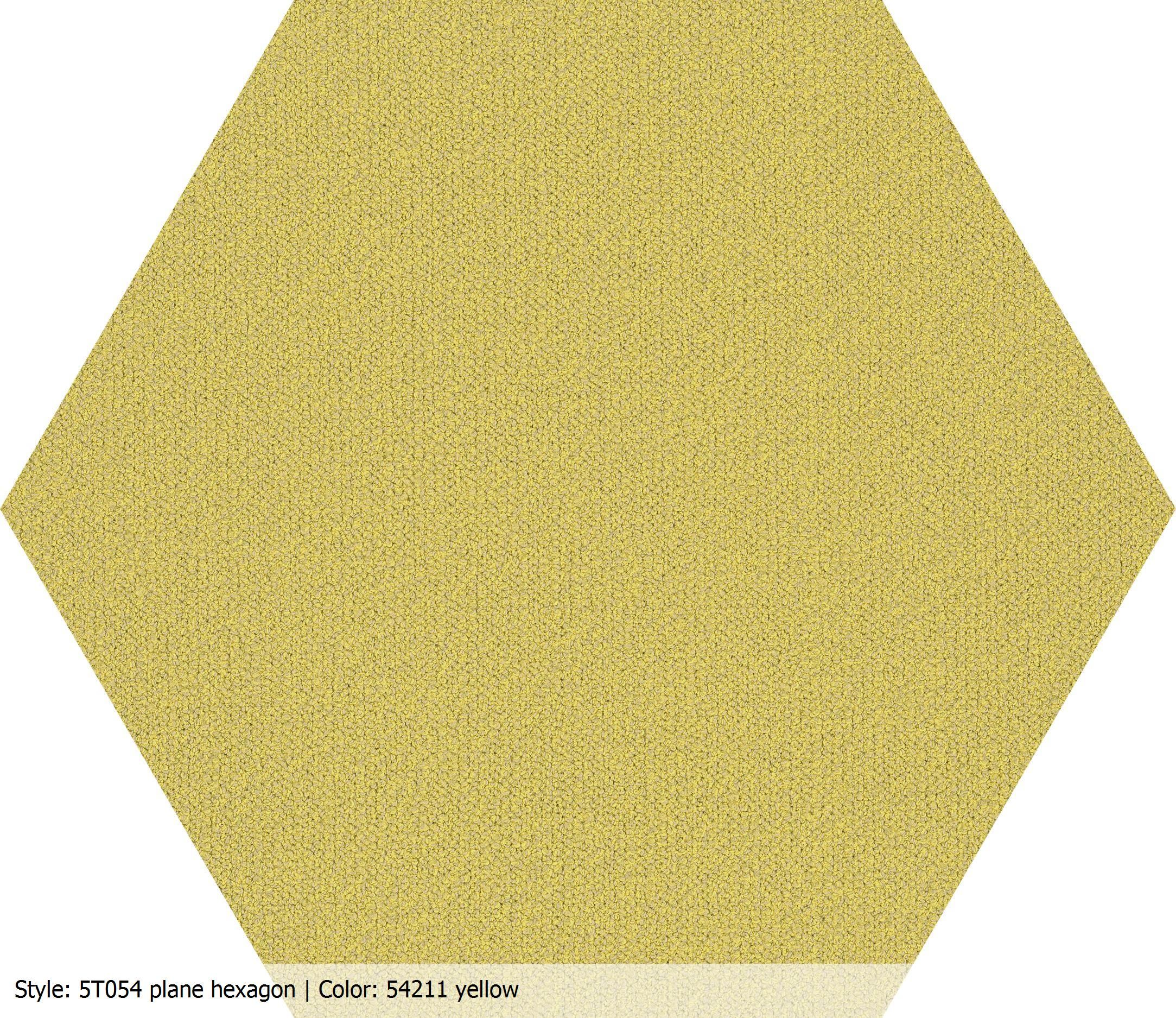 Carpet Accent Shaw Contract, Plain Hexagon  Yellow #54211