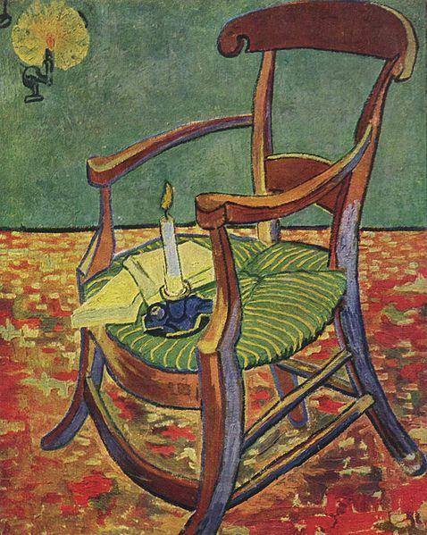 La Chaise De Paul Gauguin 1888 Van Gogh Museum Ill Wikipedia Il Y A Une Et Des Livres Dessus Pour Voir Ce Que Les Lecteurs