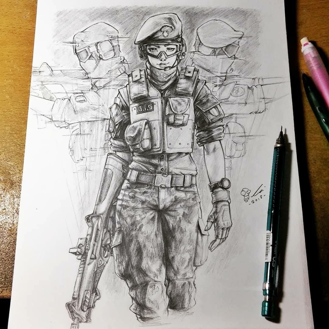 Amazing Alibi Draw With Images Rainbow Drawing Rainbow Six