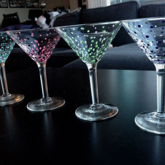 my diy painted martini glasses products i love