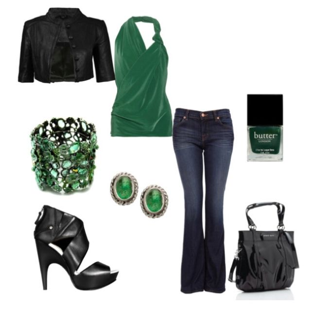 Green!!! Love it. Would change the shoes, but nothing else.