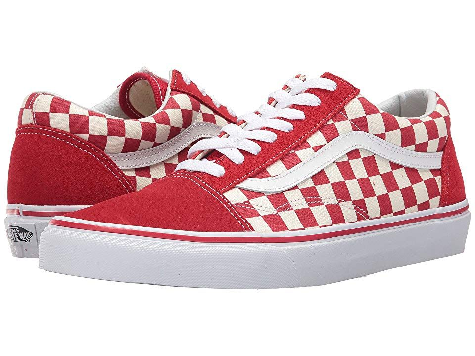 Vans Old Skooltm Skate Shoes (Primary Check) Racing Red