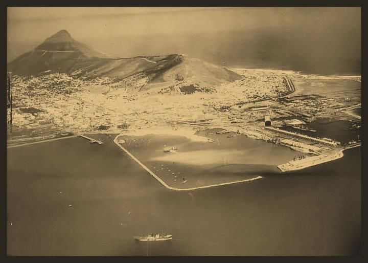 CAPE TOWN HARBOUR AND LIONS HEAD - 1937