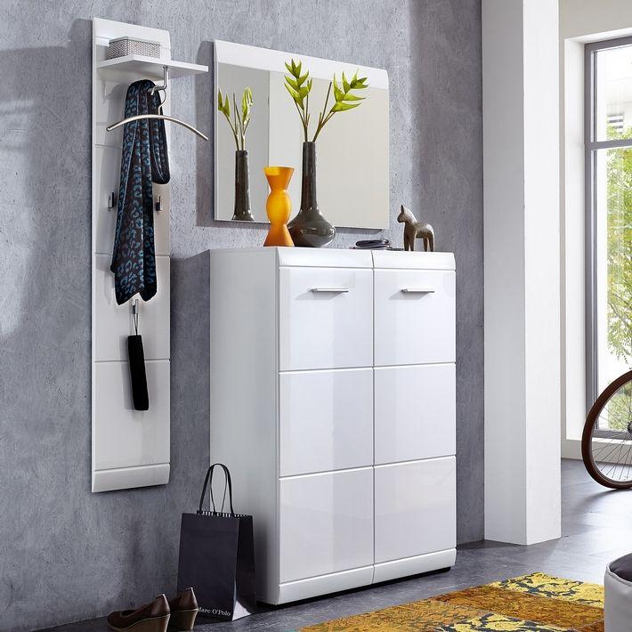 Meubles A Chaussures Blanc Design Laque Pour Une Entree Organisee Mobilier De Salon Meuble A Chaussure Blanc Deco Meuble Tele