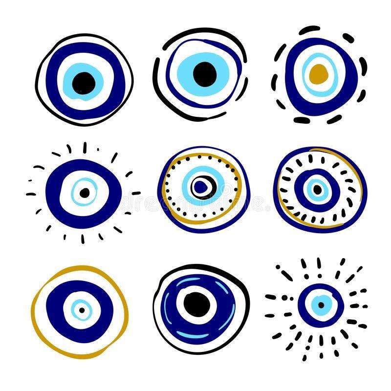 Greek Evil Eye Vector Symbol Of Protection Amulet Icon Turkish Nazar Boncugu Amulet Illustration Believed That It Evil Eye Art Eye Painting Eye Illustration