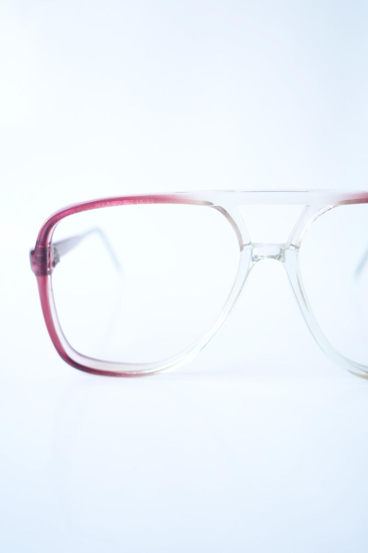 Womens Vintage Aviator Eyeglasses Clear And Red Aviator Etsy Aviator Eyeglasses Eyeglasses Vintage Eyeglasses