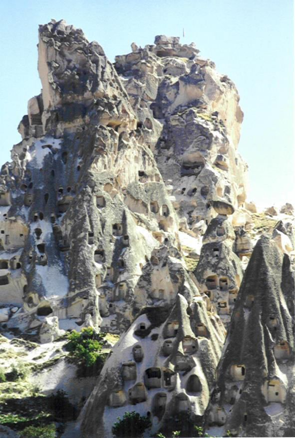 Houses Carved Into The Mountain Cappadocia Turkey Beautiful