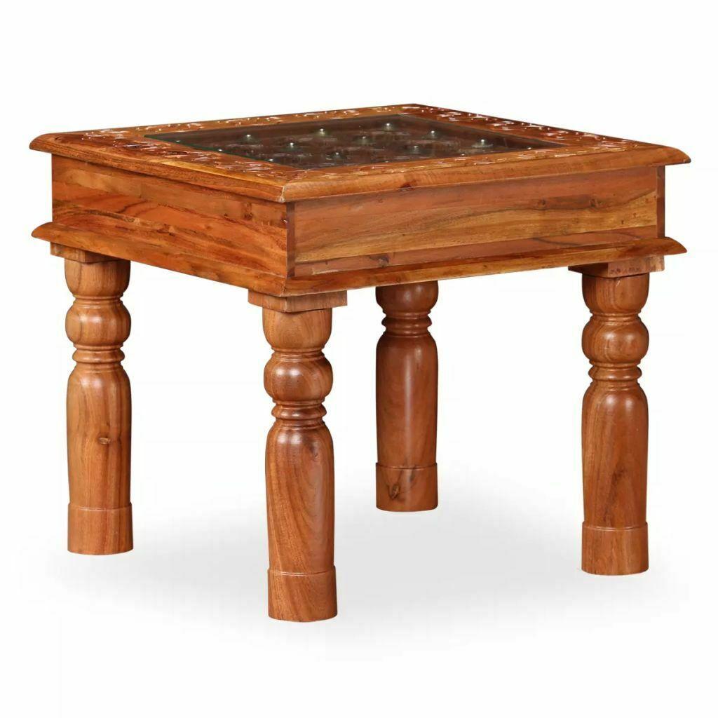 Table Basse Vidaxl En Acacia Table Dappoint En Bois Massif
