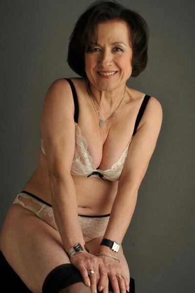 Old mature women in underwear