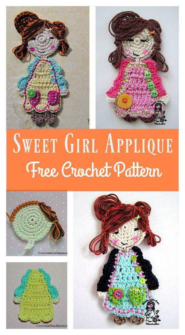 Sweet Girl Applique Free Crochet Pattern – Applikationen
