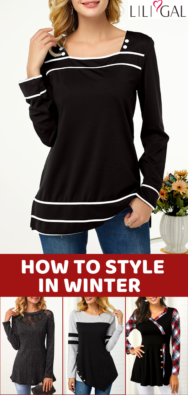 Liligal 10+ casual tops womens winter outfit ideas