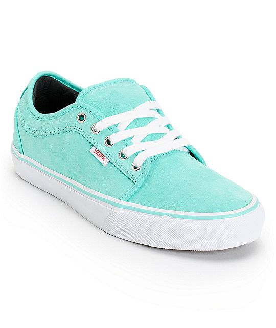 ececddb742 Swim in comfort and style with the Vans Chukka Low seafoam suede shoe.  These guys