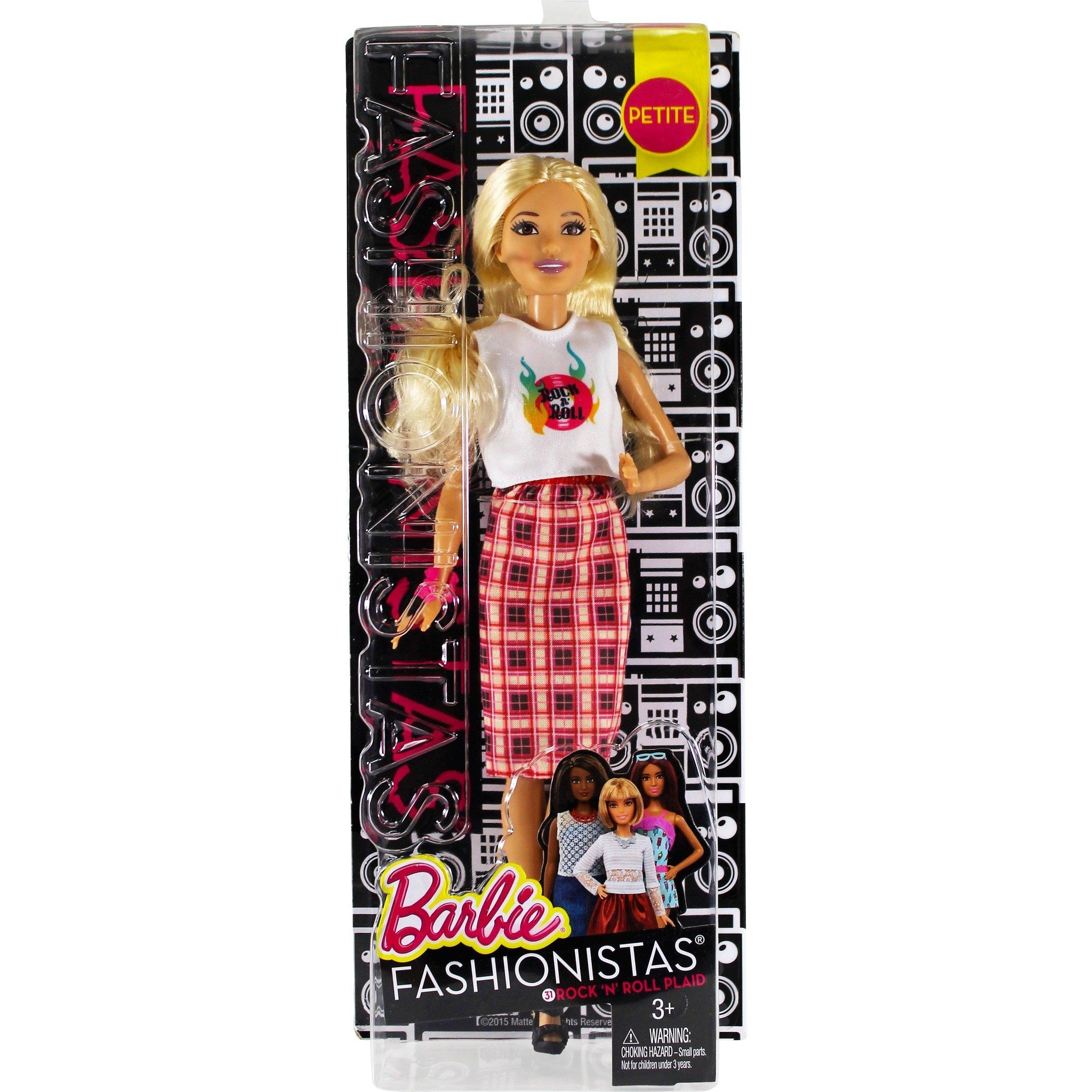 Barbie Fashionista Doll 31 Rock 'N' Roll Plaid