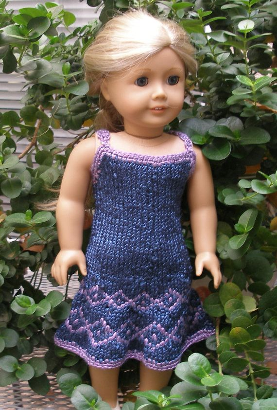 Annes Party Downloadable Knitting Pattern For Any 18 Inch Doll