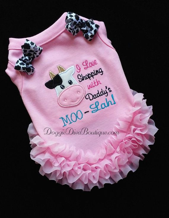 Pink Girl Dog T Shirt Dog Top Dog Tee I love shopping