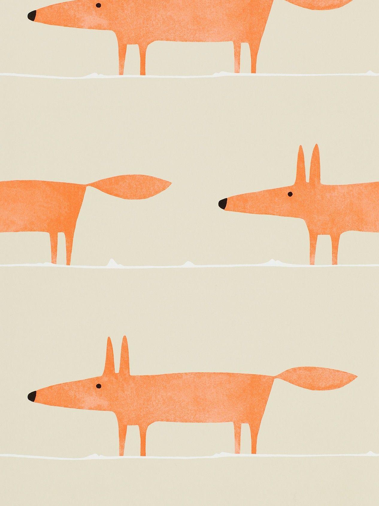 Scion Mr Fox Paste the Wall Wallpaper