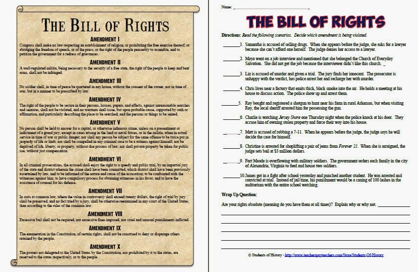Worksheets Bill Of Rights Worksheets the bill of rights worksheet 17 best ideas about quiz on pinterest of