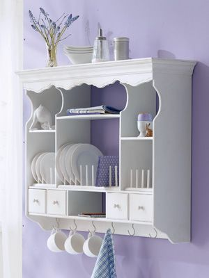 White Shabby Chic Kitchen Hanging Cabinet I Need One Of These
