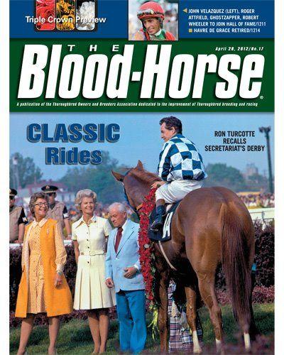 SECRETARIAT Bloodhorse Cover April 2012