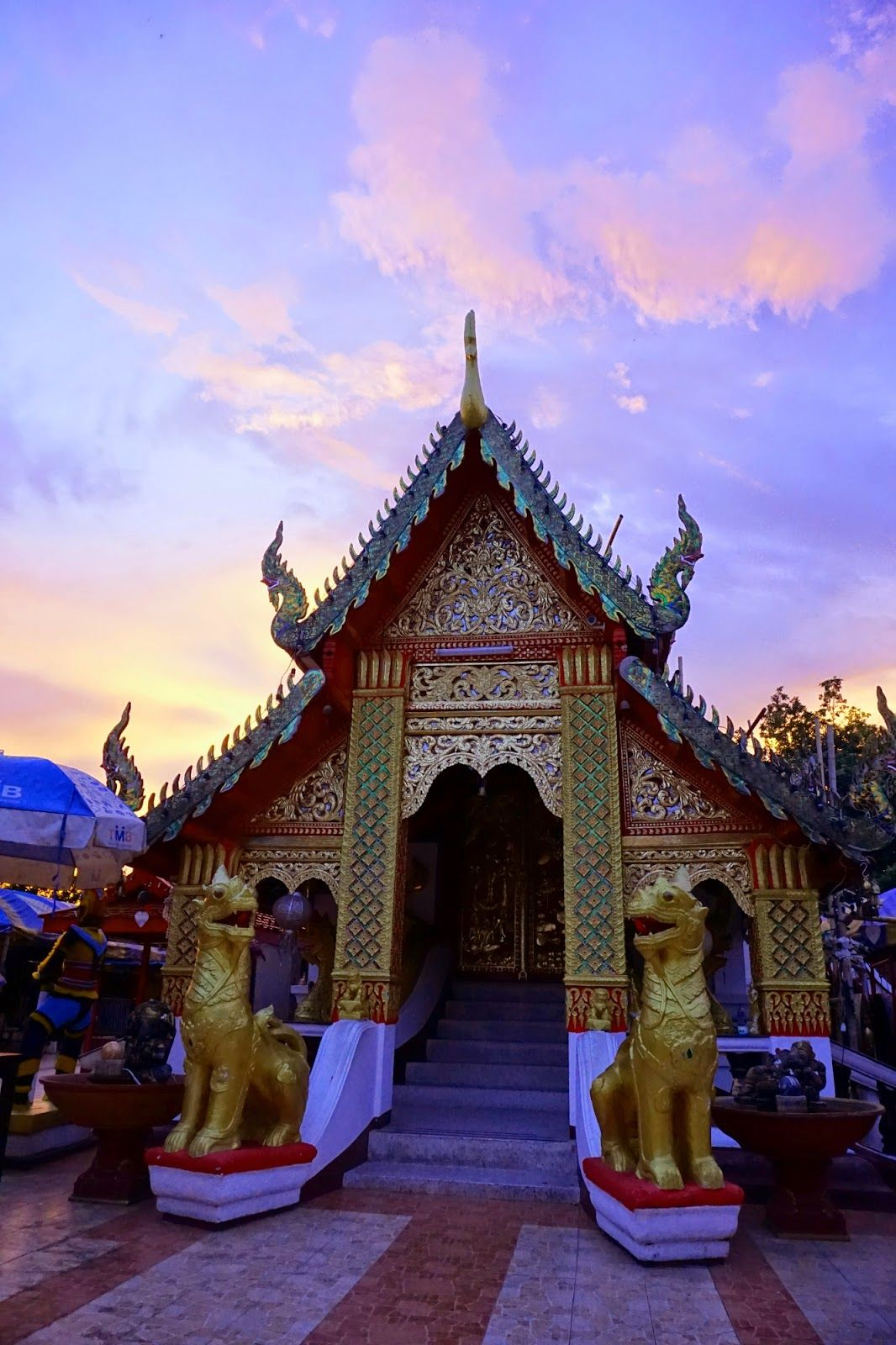 Local temple overlooking the south part of Chiang Mai