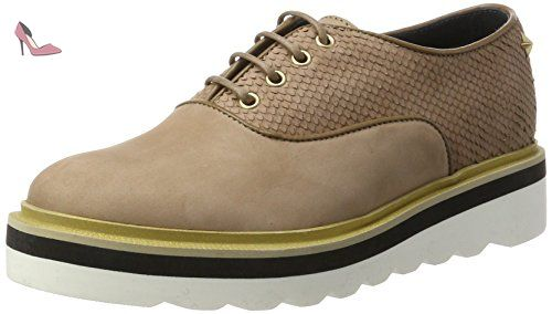 Tommy Hilfiger P1285aulina 5n, Oxford Femme, Beige (Dark Taupe), 40 EU - Chaussures tommy hilfiger (*Partner-Link)