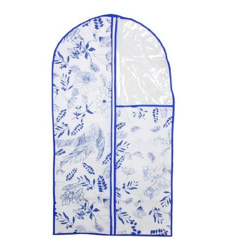 """Amico 60cm x 110cm Blue Flower Pattern Dress Garment Suit Cover Protector Bag by Amico. $5.63. Color : Blue, Clear, White;Main Material : Non-woven, PVC. Package : 1 x Suit Cover Bag. Product Name : Suit Cover Bag;Closure : Zipper Closure. Weight : 106g. Size : 60 x 110cm / 24"""" x 43""""(W*L). High-quality in non-woven,PVC, Zipper. Protective and acid free, wipe clean. Ideal all purpose clothes cover, for use when travelling and storing."""