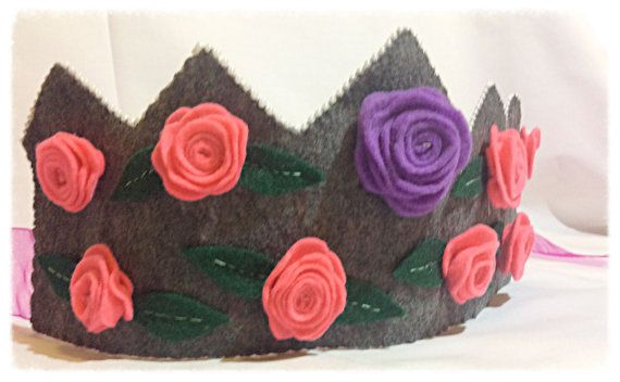 Waldorf Inspired Felt Rose Flower Crown Tiara Make by Spellingfelt