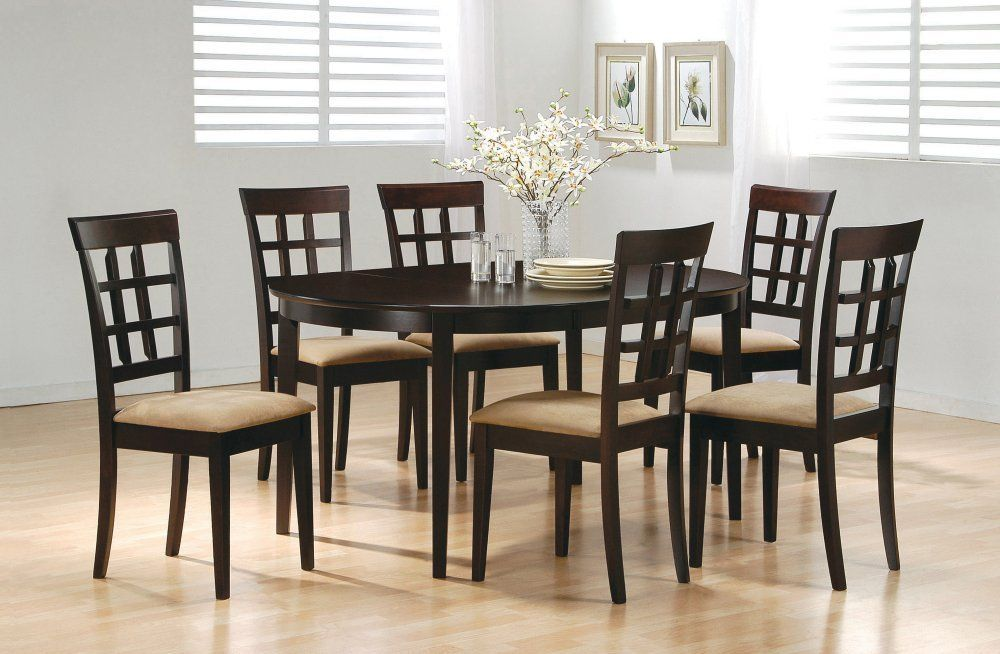 7-Piece Dining Set in Rich Cappuccino - Coaster * Startling review available here  : Coasters Home Decor