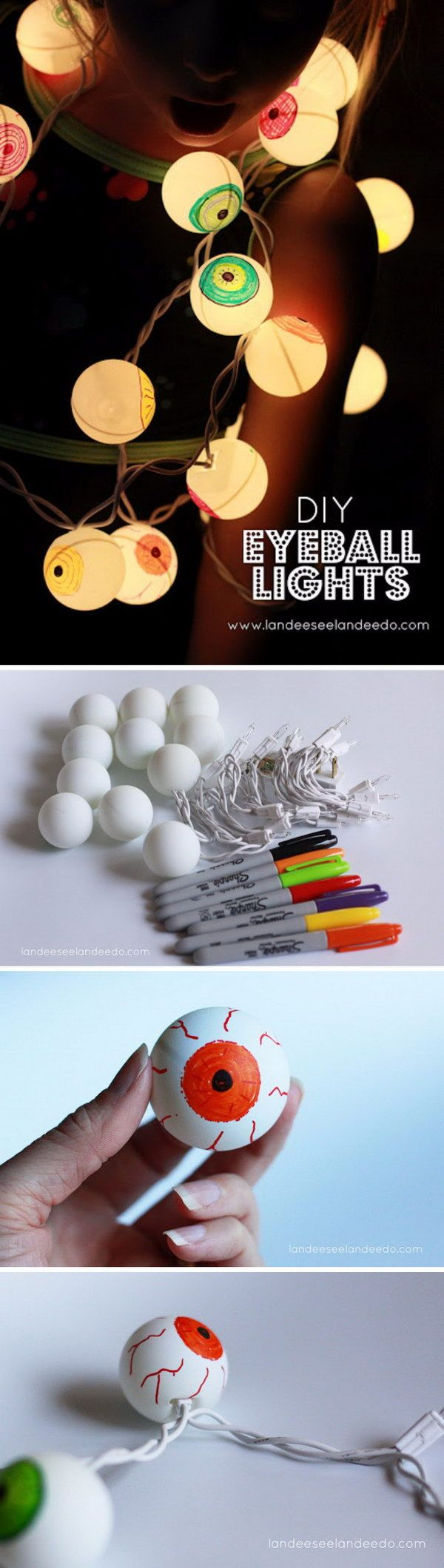 20+ Fun and Easy DIY Halloween Decorating Projects Lights - Homemade Halloween Decorations