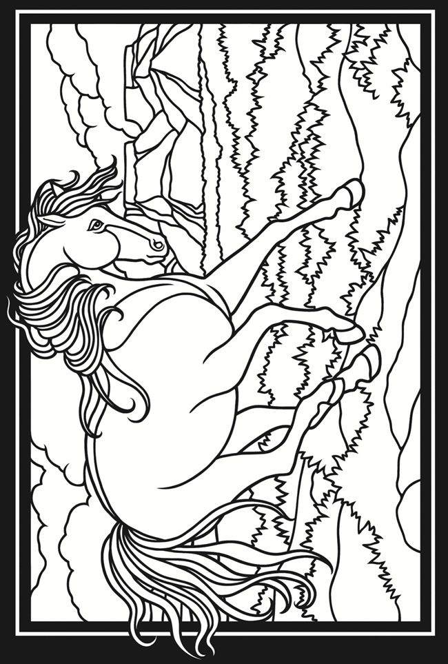 Welcome to Dover Publications 3-D Coloring Book -Horses | Kids ...