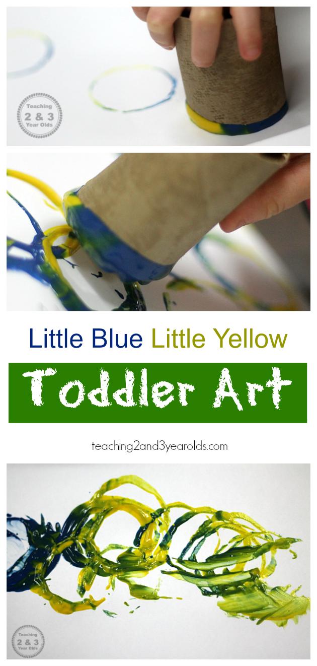 Little Blue and Little Yellow Paint Mixing | Toddler art, Art ...